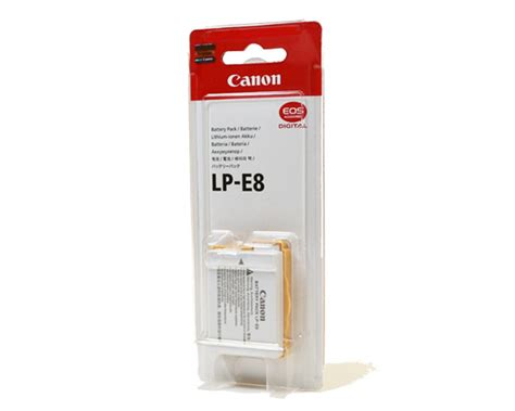 Canon Battery Lp E8 Original jual baterai canon lp e8 original 600d 700d 650d 550d