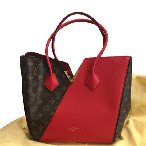 louis vuitton kimono monogram handbags leather red ref