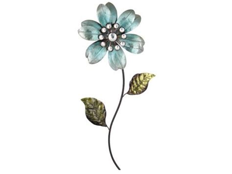 Decorative Wine Racks For Home by Flower With Stem And Leaves Metal Art Metal Wall Decor