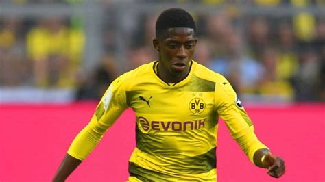 barcelona dembele demb 233 l 233 to bar 231 a less than 50 likely says dortmund