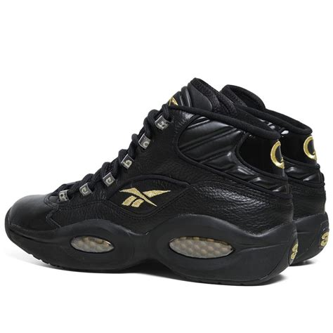 iverson basketball shoes reebok question mid in black gold nye 10th year