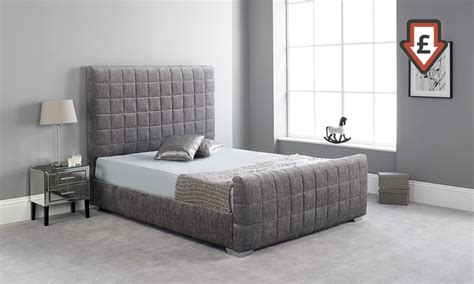 Bed Frame And Mattress Deals Uk Handcrafted Fabric Bed Groupon Goods