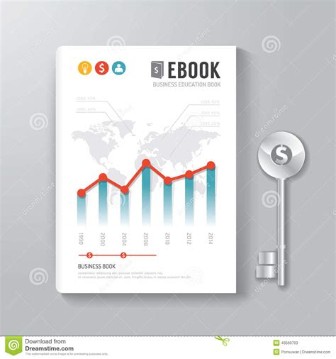 book template design cover book digital design template key of business concept