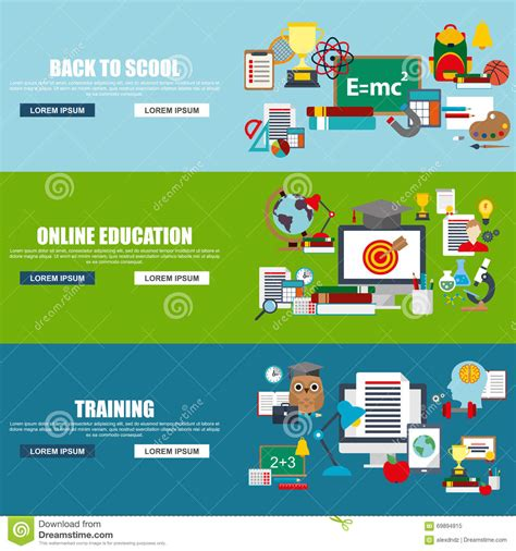 online education illustration flat design illustration flat design style modern vector illustration concept for
