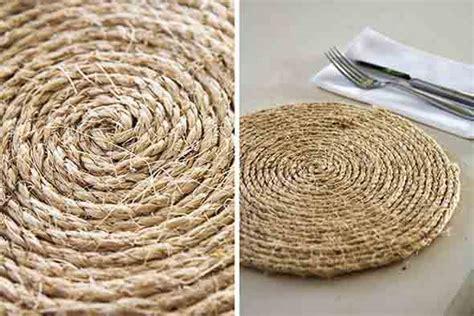 diy home decor how to make placemats and other easy como fazer um suporte para pratos artesanal o sousplat