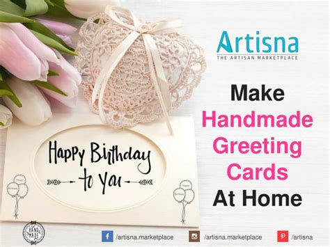 How To Make Handmade Cards At Home - ppt how to make handmade greeting cards at home