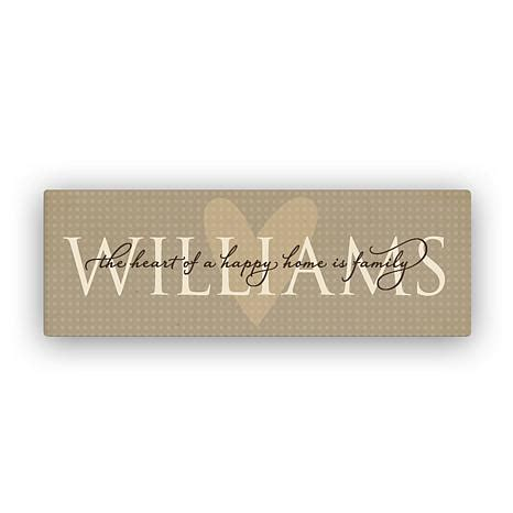 Personalized Wall Decor For Home by Heart Of A Happy Home Family Name Personalized Canvas Wall