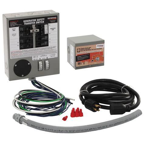 generac 30 indoor generator transfer switch kit for 6