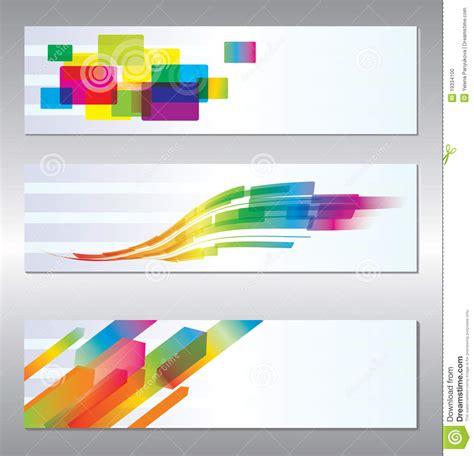 design picture set of header design stock photo image 19334100