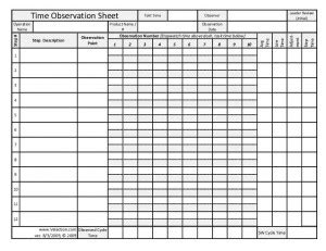 industrial engineering time study template work template free new calendar template site