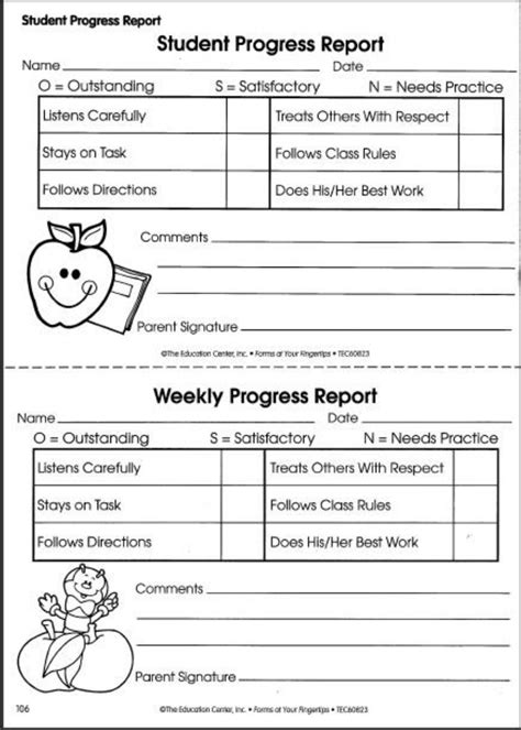 Student Progress Report Sample Form Student Progress Reports Keep Parents Informed Of Their