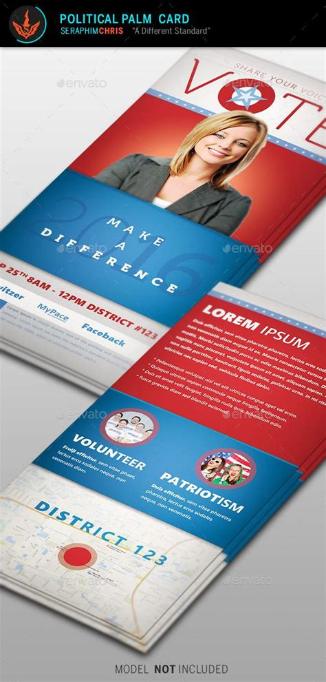 Palm Cards Template by Vote Political Palm Card Template Card Templates