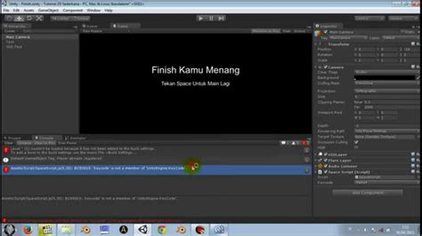 tutorial unity3d bahasa indonesia 6 make simple 2d games win scene unity3d tutorial