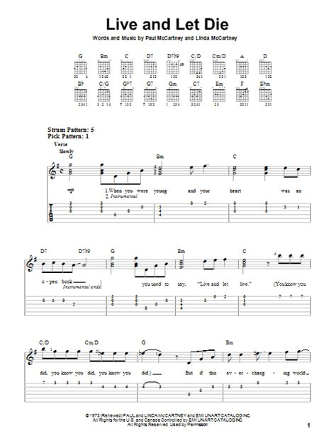 live and let die 1784872008 live and let die sheet music direct