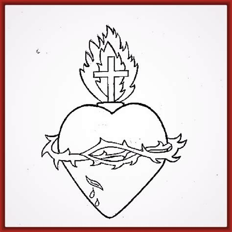 imagenes sagrado corazon de jesus para colorear imagenes del corazon para colorear y pintar fotos de