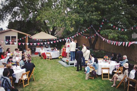 bbq backyard wedding tasha noah s americana backyard bbq wedding 183 rock n