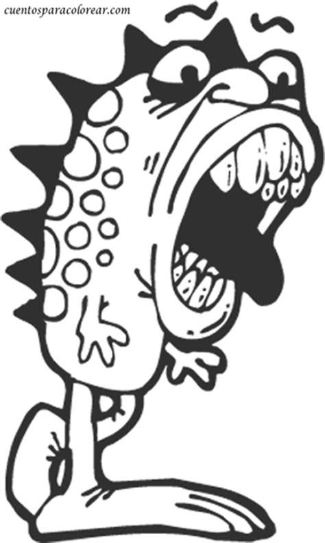 Imagenes De Monstruos Faciles Para Dibujar | dibujos para colorear monstruos de miedo