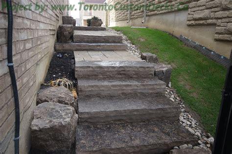 landscaping toronto landscaping and interlocking project toronto custom deck