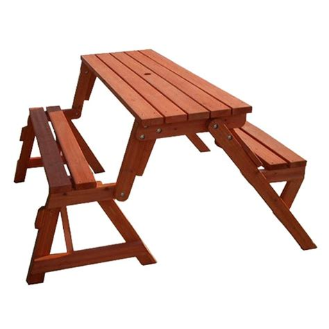 Bench To Picnic Table by Two In One Convertible Bench And Picnic Table Home