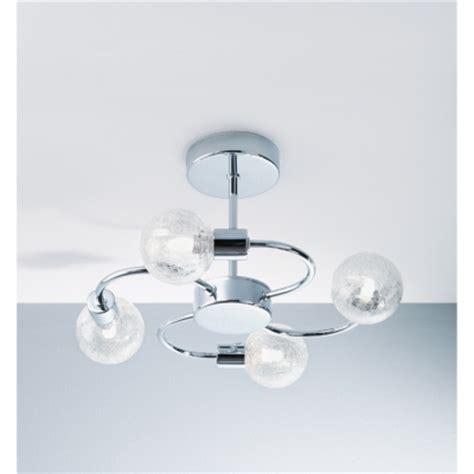 asda crackle 4 arm ceiling light fitting chrome review