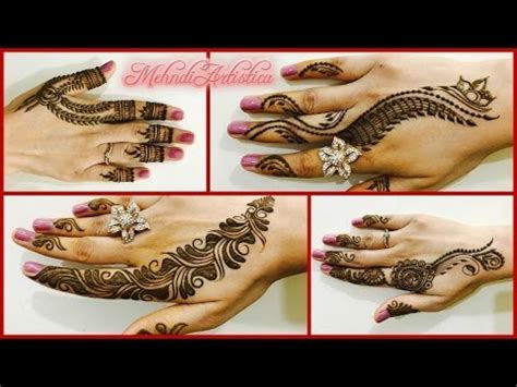 4 easy beautiful mehndi designs for quick henna party