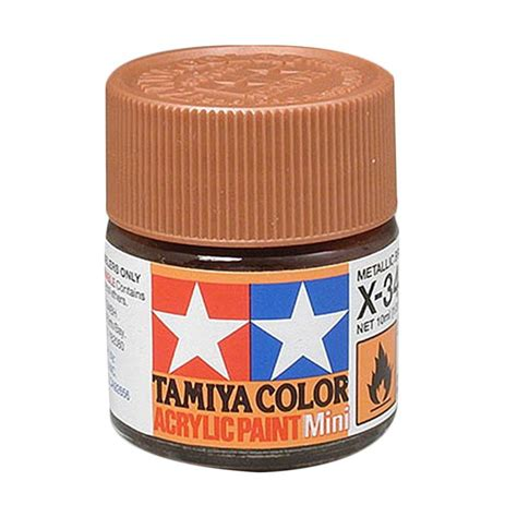 Cat Akrilik Tamiya jual tamiya 81534 x 34 cat acrylic mini metallic brown