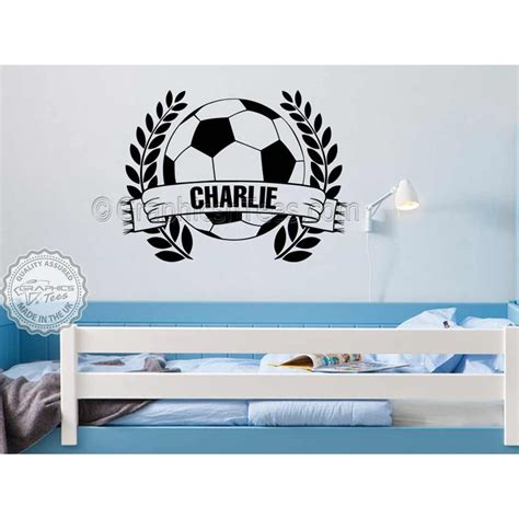 personalised football wall stickers boy girls bedroom playroom wall decor decal