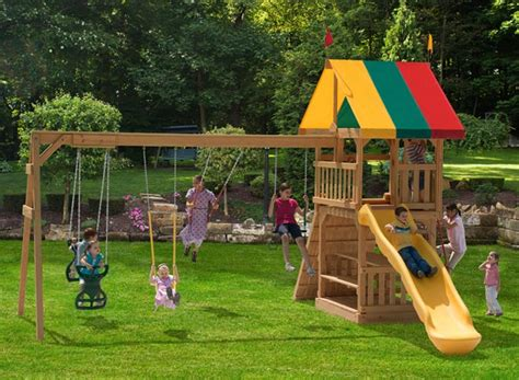 how to install swing set the 142 treasured times kid s wooden swing set install a
