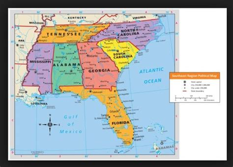 map of southeastern united states map of the southeast region of the united states write