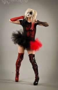 Harley quinn adult tutu mini micro black red skirt adult halloween
