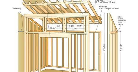 pent shed plans  floor   plans guide