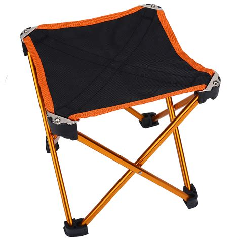 camping stool folding chairs outdoor fold  chairs  legs portable collapsible chair