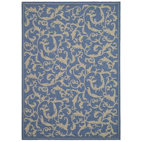 Outdoor Rug Lowes Safavieh Cy2653 3103 Courtyard Indoor Outdoor Area Rug Blue Lowe S Canada