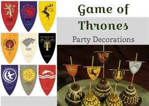 Game Of Thrones Decor Parties Amp Entertaining Archives Love Snap Make
