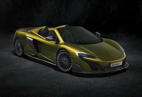mclaren 675lt spider price compared to sibling product