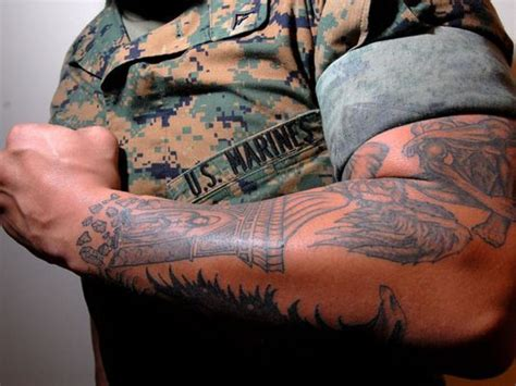 2015 usmc tattoo policy marine leaders to review controversial tattoo policy