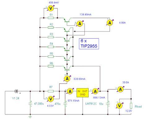 12v power supply diagram simple 12v 30a regulated power supply circuit diagram