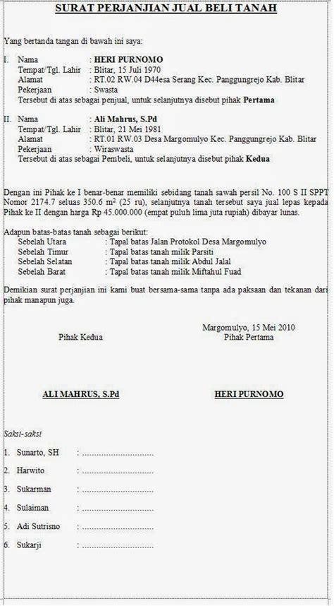 format surat kuasa jual beli contoh surat perjanjian jual beli tanah kata kata gokil