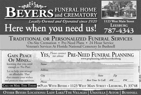 byers funeral home leesburg fl home review