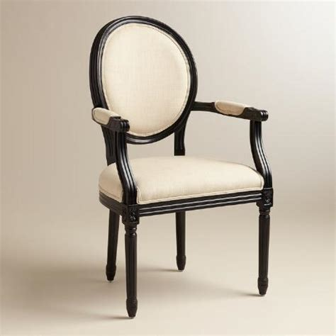 round back armchair natural linen paige round back black frame armchair