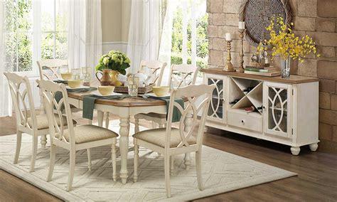 homelegance azalea dining set antique white 5145 dining set at homelement