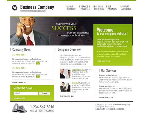 free business html templates the best cheap free business website templates evohosting