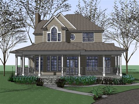 House Plans With Wrap Around Porch by Farm House Plans With Wrap Around Porches Fashioned