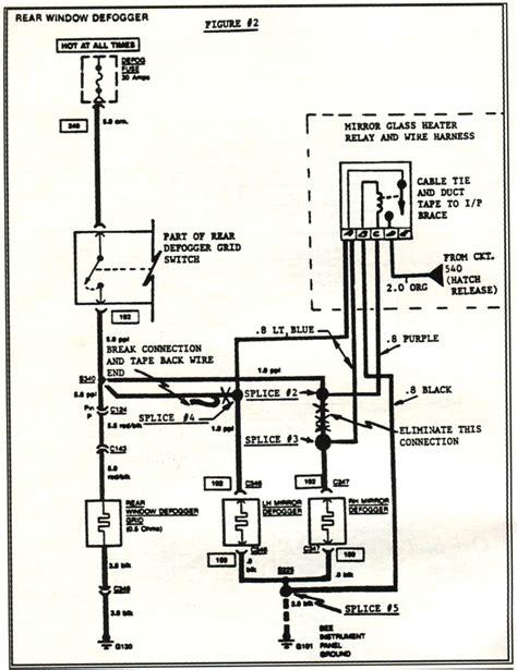 1982 corvette rear window defogger wiring diagram wiring