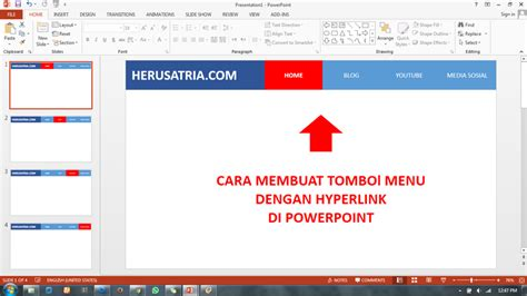 cara membuat hyperlink di powerpoint mac heru satria