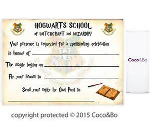 coco amp bo 5 x magical wizarding hogwarts party invitations