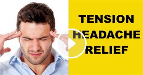 tension headache relief exercises