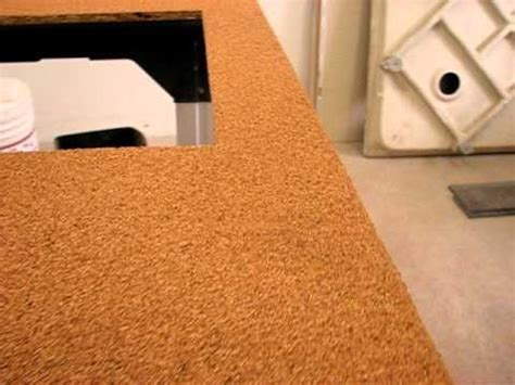cork countertop cork counter top project preview youtube