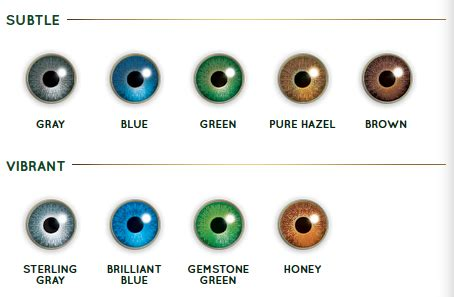 guide to air optix colors contact lenses