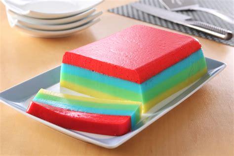 Dessert Slice rainbow jell o dessert slices recipe kraft recipes